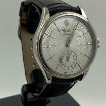 Rolex Cellini Dual Time White gold 39mm White No numerals