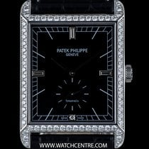 Patek Philippe 18k W/G Diamond Set Double Name Tiffany &...