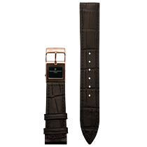 Frederique Constant E-Strap Dark Brown Rose Gold Plated 22mm