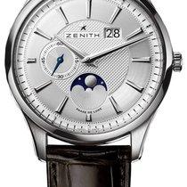 Zenith 03.2140.691/02.C498 Acero Captain Moonphase 40mm nuevo