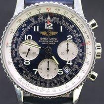 Breitling Navitimer Chronograph Steel Blue Dial Blue Strap...
