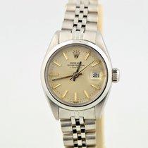 Rolex Date Stainless Steel Jubilee Bracelet Silver Dial 6916...