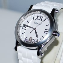 Chopard Happy Sport Staal 36mm Wit Romeins Nederland, Vught