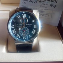 Ulysse Nardin Marine Chronometer 43mm Steel 43mm Black Roman numerals