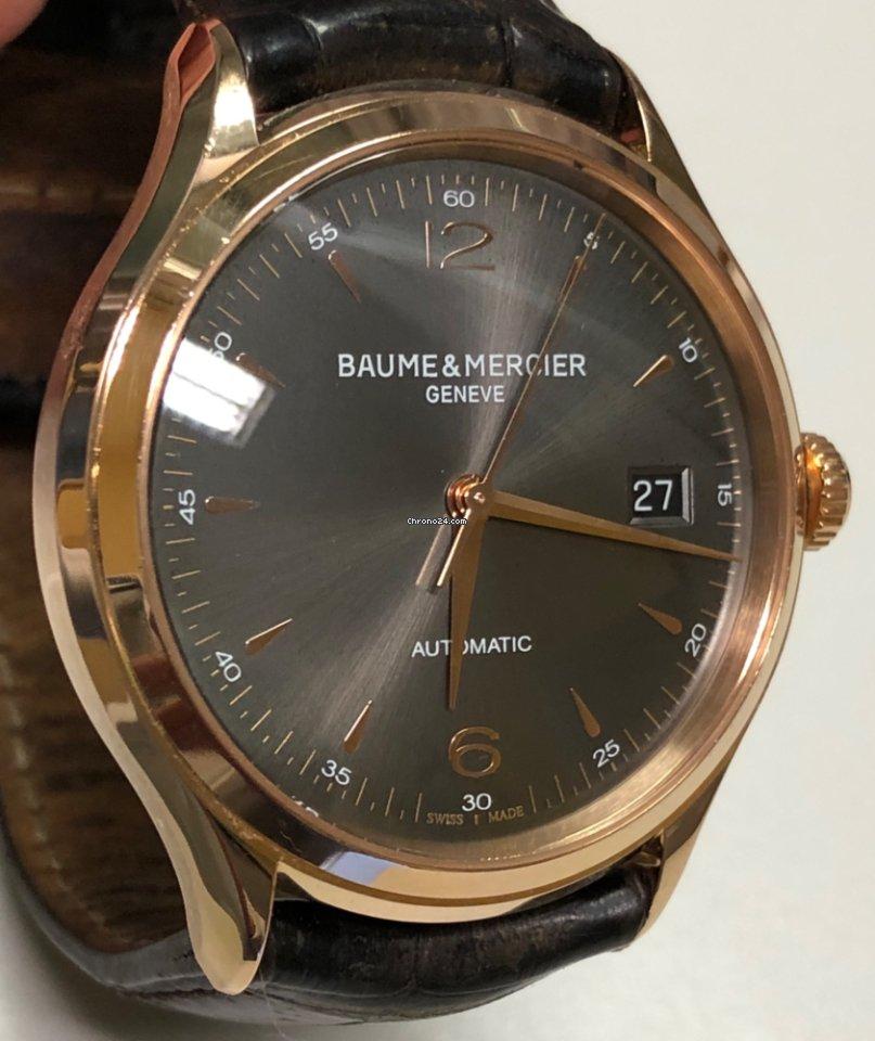Clifton Solid Mercier Baumeamp; Rose Gold 18kt QtshdrC