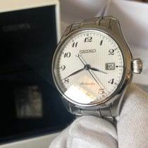 Seiko Silber Automatik Weiß Arabisch 41mm gebraucht Presage