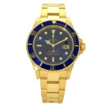 Rolex Submariner Date Yellow gold 40mm Blue No numerals United Kingdom, Liverpool