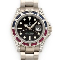Rolex 116759SARU Or blanc 2000 GMT-Master II 40mm occasion