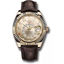Rolex Sky-Dweller Or jaune 41mm Argent Romains