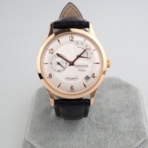 Zenith Elite Power Reserve pre-owned 37mm Silver Date Leather
