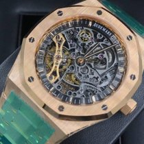 Audemars Piguet Royal Oak Double Balance Wheel Openworked Pозовое золото 41mm Прозрачный Без цифр