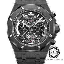 Audemars Piguet Royal Oak Tourbillon Keramiek 44mm Doorzichtig Geen cijfers