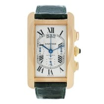 Cartier Tank Américaine Rose gold Silver Roman numerals United States of America, Massachusetts, Andover