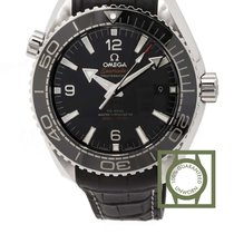 Omega Seamaster Planet Ocean black leather