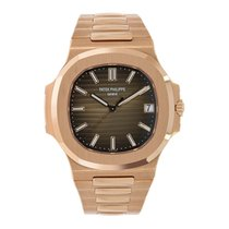 Patek Philippe Nautilus 40mm Men's Rose Gold Chocolate Dial Watch