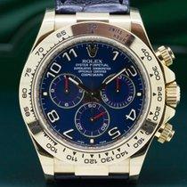 Rolex 116518 Daytona 18K Yellow Gold Blue Dial / Black Strap V...