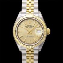Rolex Oro amarillo Automático Champán 28.00mm nuevo Lady-Datejust