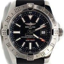 Breitling Chronometer 43mm Automatik 2018 gebraucht Avenger II GMT Schwarz