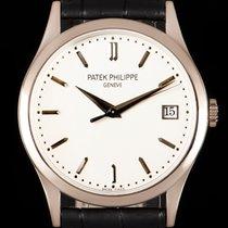 Patek Philippe Calatrava White gold 38mm Silver No numerals