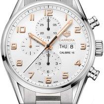 TAG Heuer Chronographe 43mm Remontage automatique 2010 nouveau Carrera (Submodel) Blanc