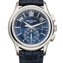 Patek Philippe Annual Calendar Chronograph Platinum 42mm Blue No numerals