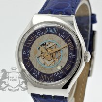 Swatch Platin Automatik Blau Römisch 36mm neu