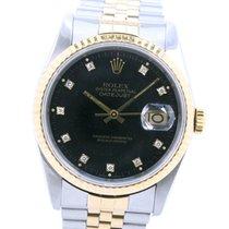 Rolex Datejust 16233G Satisfactorio Acero y oro 36mm Automático