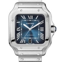 Cartier Santos (submodel) Steel 39.8mm Blue Roman numerals United States of America, California, Los Angeles