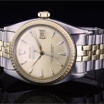 Rolex Bubble Back Gold/Steel 36mm Champagne No numerals