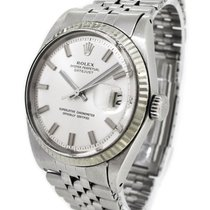 Rolex 18K White Gold / SS Oyster Perpetual Datejust 1601, with...