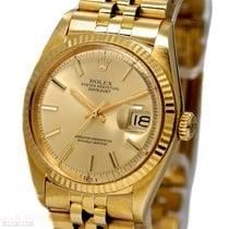 Rolex Vintage Datejust Man Size Ref-1601 18k Yellow Gold Bj-1976