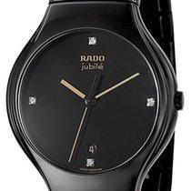 Rado True Jubile Black Ceramic Mens Watch Calendar Quartz...