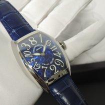 Franck Muller Crazy Hours Steel 55,4mm Blue Arabic numerals