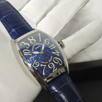 Franck Muller Crazy Hours Steel 55,4mm Blue Arabic numerals