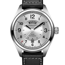 Hamilton Steel Automatic Silver 42mm new Khaki Field Day Date