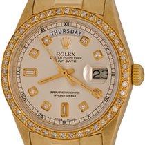 Rolex Day-Date 36 Zuto zlato 35mm Srebro Bez brojeva