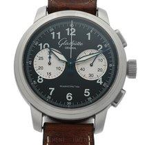 Glashütte Original Senator Navigator Chronograph Steel 44mm Black Arabic numerals
