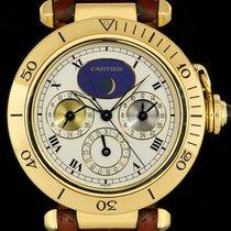 Cartier Pasha Жёлтое золото 38mm Белый Римские