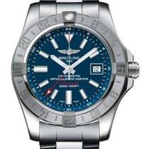 Breitling Avenger II GMT Stahl 43mm Blau Keine Ziffern