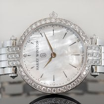 Harry Winston White gold Quartz Mother of pearl 36mm new Premier