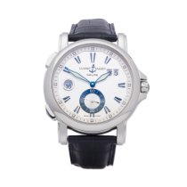 Ulysse Nardin Steel Automatic Silver 42mm pre-owned Dual Time