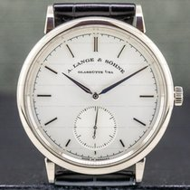 A. Lange & Söhne Saxonia pre-owned 38.5mm Silver Crocodile skin