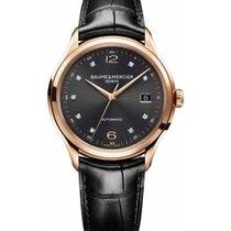 Baume & Mercier Rose gold Automatic Black No numerals 39mm new Clifton