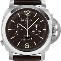 Panerai Luminor 1950 8 Days Chrono Monopulsante GMT new 2019 Manual winding Chronograph Watch with original box and original papers PAM 00311