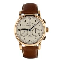 A. Lange & Söhne Rose gold Manual winding Silver Arabic numerals 39.5mm pre-owned 1815