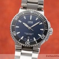 Oris Aquis Date Acier 43mm Bleu