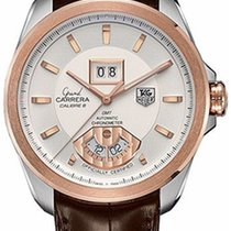 TAG Heuer Grand Carrera Goud/Staal 42,50mm Zilver