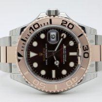 Rolex Yacht-Master 40 Gold/Steel 40mm Brown No numerals