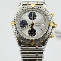 Breitling 80's Chronomat Two Tone Black Eye Silver B13048...
