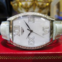 Longines Evidenza Mop Diamond Stainless Steel Watch Ref: L2.655.0
